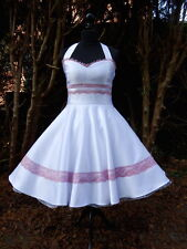 Petticoat 50er novia boda firmemente primera comunión Jugendweihe vestido dress a medida
