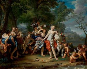 The Rape of Europa by Nicolaas Verkolje 75cm x 59.6cm Canvas Print