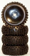 NIB Big Block Black dish Pre-Mounted 1/8 Buggy Tires Glued 17mm hex