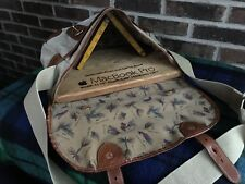 VINTAGE BATTENKILL CANVAS & LEATHER FLY FISHING MESSENGER BRIEFCASE BAG R$698