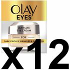 12 Olay Eyes Collection Ultimate Eye Cream Dark Circles Wrinkles Puffiness 15ml