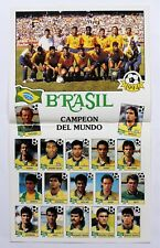 Panini World Cup Story 1990 - Update-Poster Brasilien Weltmeister 1994 SEHR RAR