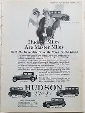 1927 Hudson Super Six Sedan Coach Brougham Car 5 Models Original Ad