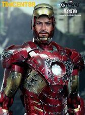 Hot Toys MMS196 Avengers Iron Man Mark VII 7 Battle Damaged Movie Promo Sealed