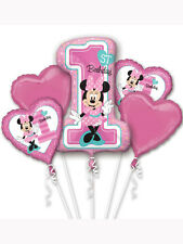 Minnie Mouse 1st Birthday Foil Balloon Bouquet Display Ideal Party Decoration