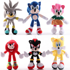 10 Styles Sonic the Hedgehog Shadow Tails Amy Rose Soft Plush Toys Stuffed Dolls