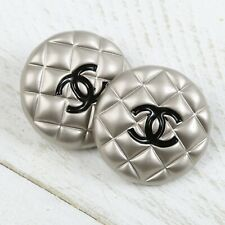 Chanel Button CC 🖤 Silver 20 mm Unstamped Vintage Style 2 Buttons +FREE GIFT!!
