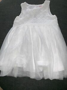 Early Days - White Baby Girl Wedding/Christening Occasion  Dress 9 – 12 Months