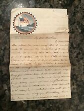 New listing 2 - 1861 Civil War 4 Page Letters, Soldier to his Brother