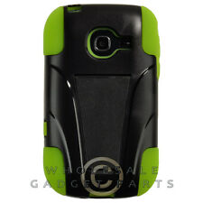 Samsung R480 Freeform 5 Hybrid Case w/ Stand Black/Neon Green Protector Guard