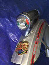 Chrome bicycle HEADLIGHT BIKE LIGHT FOR SCHWINN COLUMBIA ROADMASTER BICYCLES
