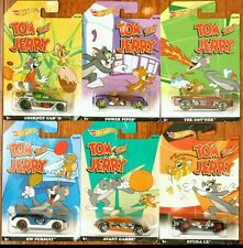 2015 Hot Wheels ~ Tom and Jerry ~ Complete Set of 6  ~ IN HAND! VHTF!