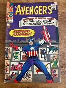 Avengers #16 Marvel Comics 1965 Hawkeye Scarlet Witch Quicksilver join team Q