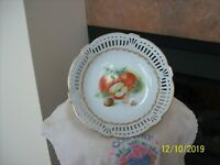 Reticulated Vintage Porcelain China Fruit Pattern Germany Bowl
