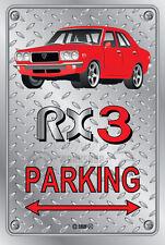 Parking Sign Metal MazdA RX3 4-door-02 - Checkerplate Look