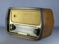 MAGNADYNE FM 40 VINTAGE RADIO A VALVOLE IN LEGNO ANNI '50 NON FUNZIONANTE