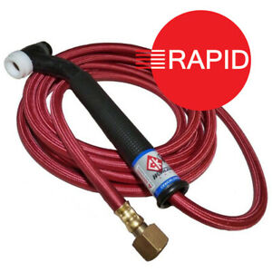"""CK 17 Flex Head Tig Torch with 4m SuperFlex Cable, 3/8"""" BSP"""