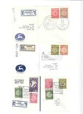 ISRAEL- 27 covers-all w/ coins stamps(seem to be 1950s) (A)
