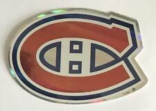 """(HCW) Montreal Canadiens Prismatic Coloured Decal Sticker 4""""x3"""" NHL *FREE SHIP"""