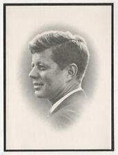 1963 JOHN F KENNEDY JFK Memorial Mass Card PRESIDENT Political EMK Helms Estate