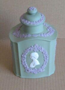 Wedgwood Jasperware Tri Coloured Charles & Diana Wedding Teapoy Tea Caddy