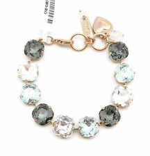 MARIANA Zulu Swarovski Crystal Rose Gold Bracelet Grey Lt Blue Clear Square 1080