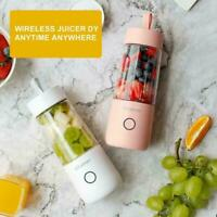 350ML Portable USB Charging Vitamer Fruit Juicer Electric Mixer Blender Q4G2