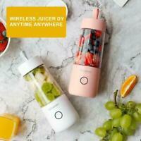 350ML Portable USB Charging Vitamer Fruit Juicer Electric Mixer Blender Q4G2