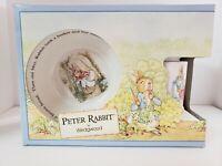 VTG  NEW WEDGWOOD PETER RABBIT NURSERY SET BEATRIX POTTER CUP BOWL PLATE