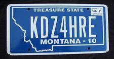 "MONTANA  VANITY LICENSE PLATE "" KDZ 4 HRE "" KIDS 4 HIRE RENT A KID"