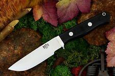 BARK RIVER GAMESKEEPER Black Micarta Jagdmesser, Outdoormesser A2 Stahl 60 HRC