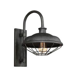 Feiss Lennex 1 Lt Indoor/Outdoor Wall Lantern 12x17.25', Grey Metal - WB1828SGM