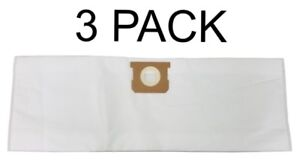 HEPA Filter Bags for Shop Vac 5 6 8 Gallon 90661 Deluxe Filtration 3 PACK