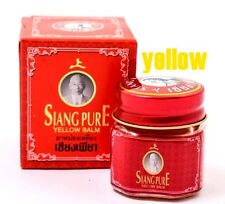 12g.yellow siang pure balm Thai Herb relieve muscle pains,sprains,and bruises