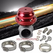 Red 44mm V-Band Turbo Boost Exhaust External Wastegate Kit+Dump Pipe Valve+Ring