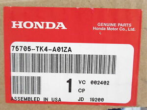Genuine OEM Acura 75705-TK4-A01ZA Front Emblem Backplate *NH696*