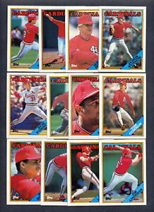 1988 Topps Cardinals Baseball TEAM SET w/ Traded (39)