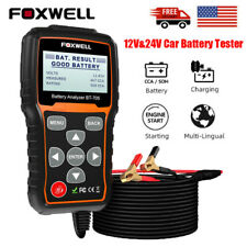 Foxwell 12V 24V Car Battery Tester Cranking Charging Test Circut Diagnose Tool
