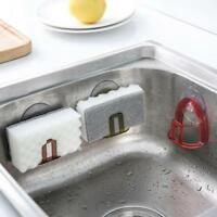 Wall Suction Cup Sink Drain Rack Sponge Soap Storage Holder for Kitchen Bathroom