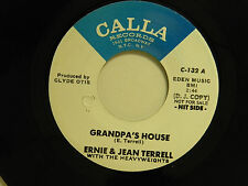 Ernie & Jean Terrell 45 GRANDPA'S HOUSE / A PRAYER OF LOVE ~ Calla VG++