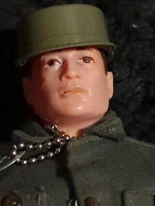 ORIGINAL EARLY ACTION MAN - BROWN PAINTED HAIRED 1960's FIGURE & OUTFIT