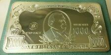 Elemetal retired 4oz $1000 dollar .999 Silver Bar Note