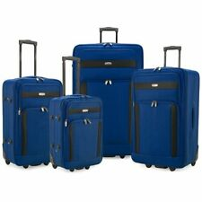Elite Luggage Turin 4-Piece Softside Lightweight Rolling Luggage Set