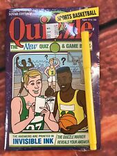 Quizzle Invisible Ink Quiz Books Basketball Sports VTG 1992 Game puzzle fun pad