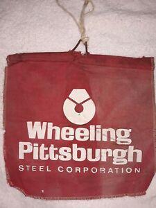 Vintage WHEELING PITTSBURGH STEEL CORPORATION small banner/flag