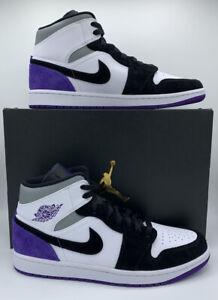 Nike Air Jordan 1 Mid SE Varsity Purple Men's Size 11 852542-105 In Hand