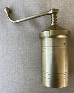 Vintage Solid Brass Ultimate Pasta Press With Accessory Shape Discs. Free Ship.