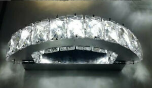 Applique a parete led in cristallo moderno 15w lampada luce bianca elegante