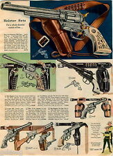 1959 ADVERT Toy Play Holster Sets Guns Pistols Trackdown Hoby Gilman Nichols 500