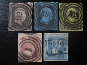 PRUSSIA PREUSSEN GERMAN STATES valuable stamp collection! CV $140.50